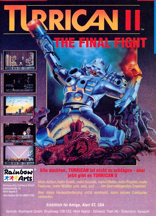 Turrican 2 Ad